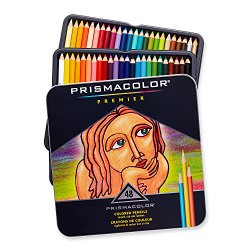 A set of Prismacolor Premier pencils, one of the most popular pencils for coloring