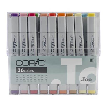 A set of 36 Copic Classic markers