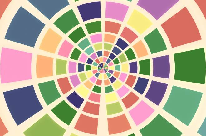 A digital color wheel with an interesting color scheme