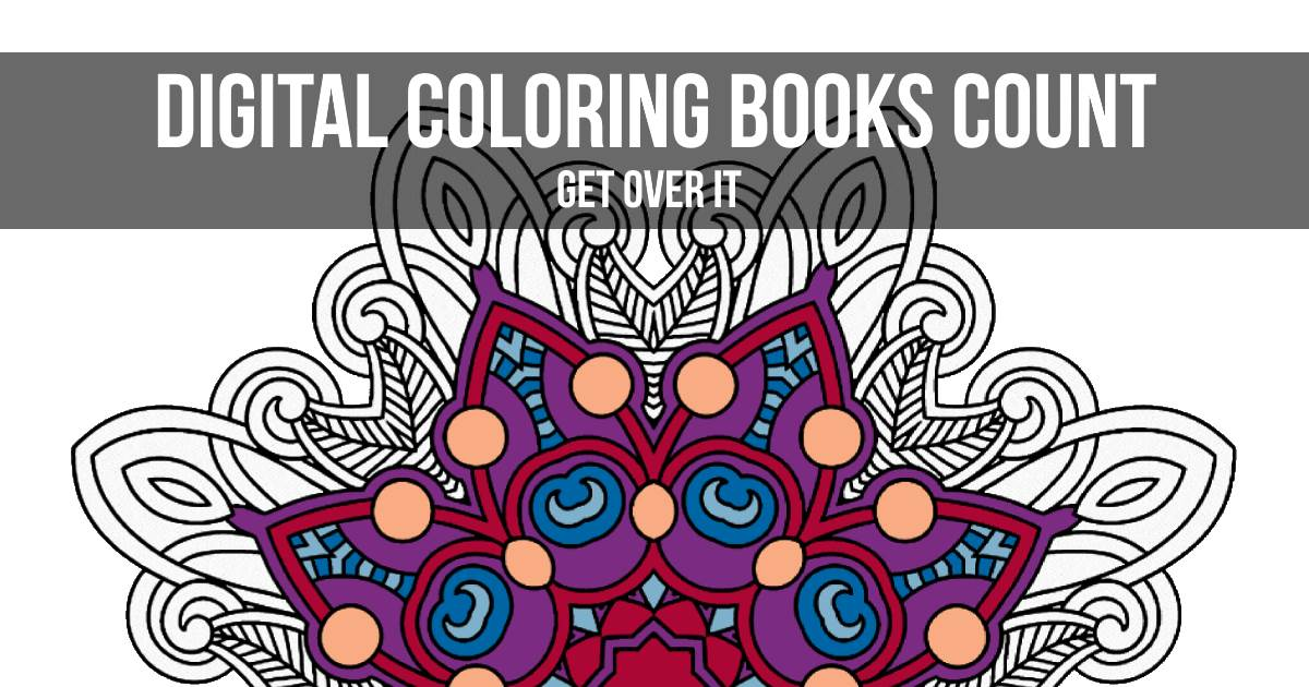 digital coloring books count get over it colorgaia - Digital Coloring Book