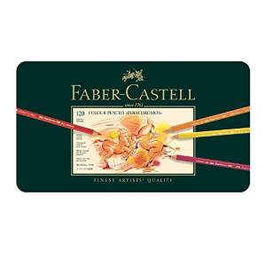 A tin of Faber Castell Polychromos pencils, an altenative to Prismacolor pencils